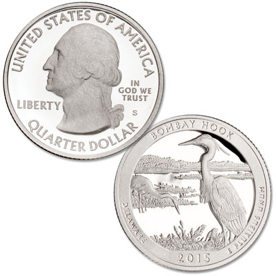 Image for 2015-S 90% Silver Bombay Hook National Wildlife Refuge Quarter from Littleton Coin Company