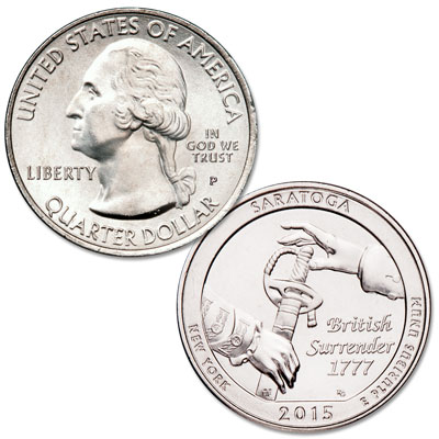 Image for 2015-P Saratoga National Historical Park Quarter from Littleton Coin Company