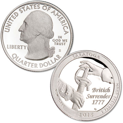 Image for 2015-S Saratoga National Historical Park Quarter from Littleton Coin Company