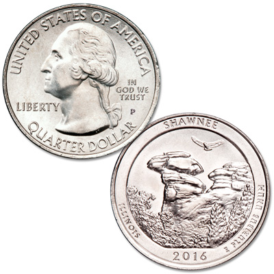Image for 2016-P Shawnee National Forest Quarter from Littleton Coin Company