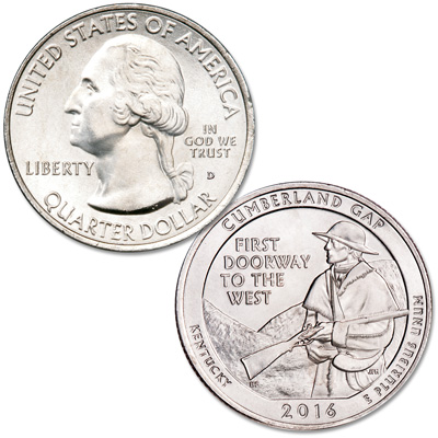 Image for 2016-D Cumberland Gap National Historical Park Quarter from Littleton Coin Company
