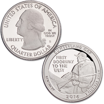 Image for 2016-S Cumberland Gap National Historical Park Quarter from Littleton Coin Company