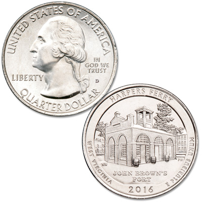 Image for 2016-D Harpers Ferry National Historical Park Quarter from Littleton Coin Company