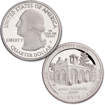 Image for 2016-S Harpers Ferry National Historical Park Quarter from Littleton Coin Company