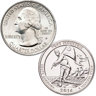 Image for 2016-P Fort Moultrie (Fort Sumter National Monument) Quarter from Littleton Coin Company