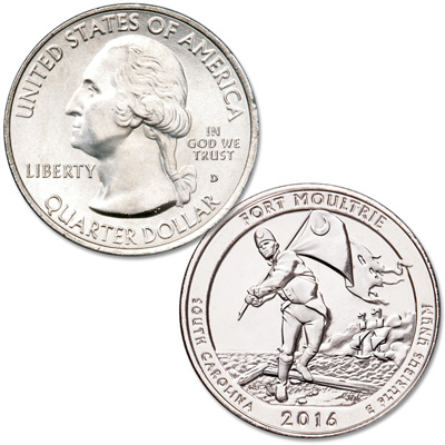 Image for 2016-D Fort Moultrie (Fort Sumter National Monument) Quarter from Littleton Coin Company