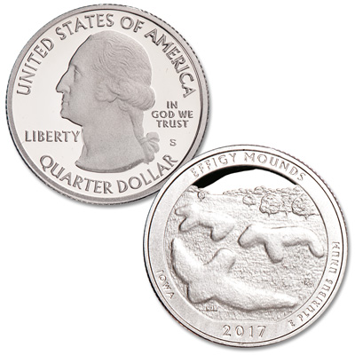 Image for 2017-S Effigy Mounds National Monument Quarter from Littleton Coin Company