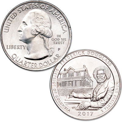 Image for 2017-P Frederick Douglass National Historic Site Quarter from Littleton Coin Company