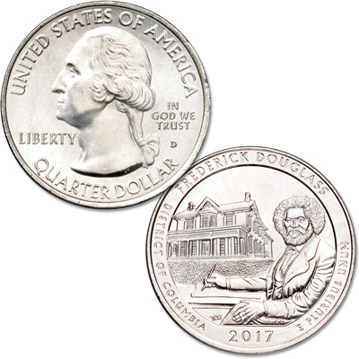 Image for 2017-D Frederick Douglass National Historic Site Quarter from Littleton Coin Company