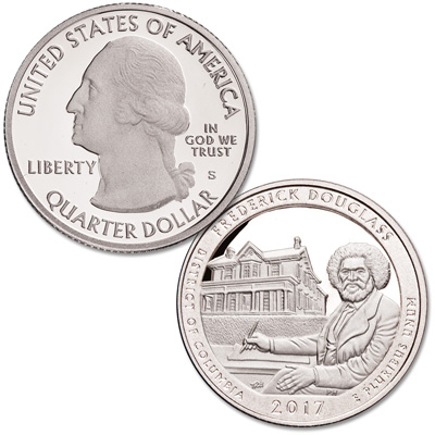 Image for 2017-S 90% Silver Frederick Douglass National Historic Site Quarter from Littleton Coin Company