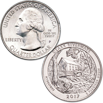 Image for 2017-P Ozark National Scenic Riverways Quarter from Littleton Coin Company