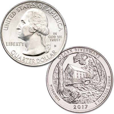 Image for 2017-D Ozark National Scenic Riverways Quarter from Littleton Coin Company