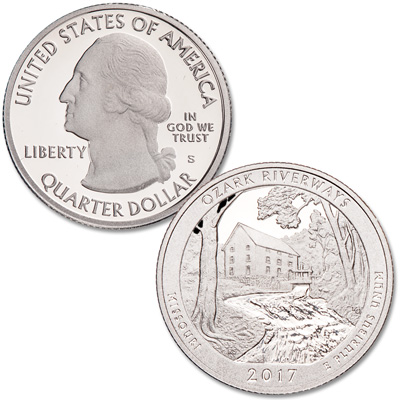 Image for 2017-S Ozark National Scenic Riverways Quarter from Littleton Coin Company