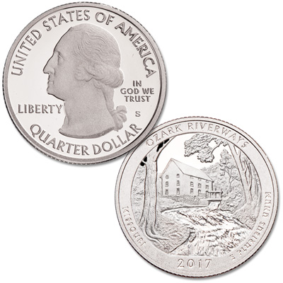 Image for 2017-S 90% Silver Ozark National Scenic Riverways Quarter from Littleton Coin Company