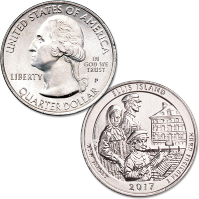Image for 2017-P Ellis Island National Monument (Statue of Liberty) Quarter from Littleton Coin Company