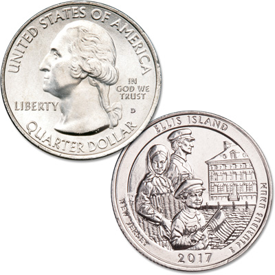 Image for 2017-D Ellis Island National Monument (Statue of Liberty) Quarter from Littleton Coin Company