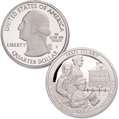 Image for 2017-S Ellis Island National Monument (Statue of Liberty) Quarter from Littleton Coin Company