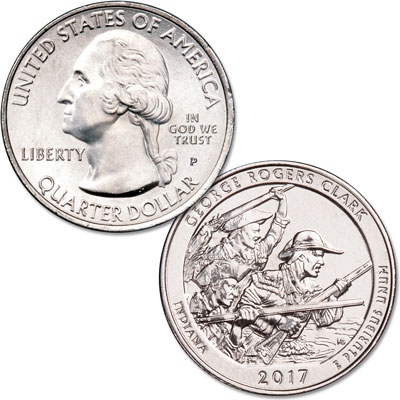 Image for 2017-P George Rogers Clark National Historical Park Quarter from Littleton Coin Company