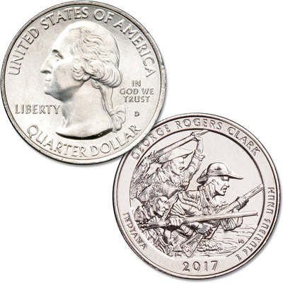 Image for 2017-D George Rogers Clark National Historical Park Quarter from Littleton Coin Company