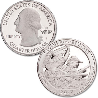 Image for 2017-S George Rogers Clark National Historical Park Quarter from Littleton Coin Company