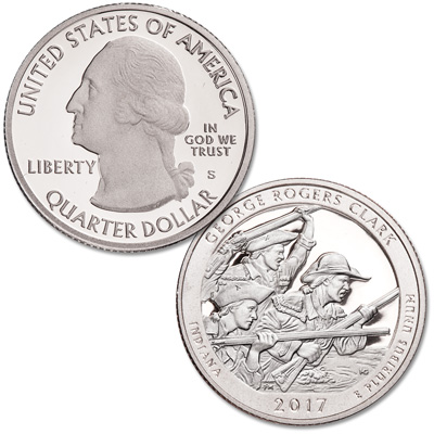 Image for 2017-S 90% Silver George Rogers Clark National Historical Park Quarter from Littleton Coin Company