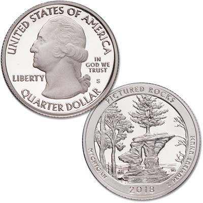 Image for 2018-S Pictured Rocks National Lakeshore Quarter from Littleton Coin Company
