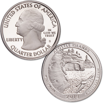 Image for 2018-S Apostle Islands National Lakeshore Quarter from Littleton Coin Company