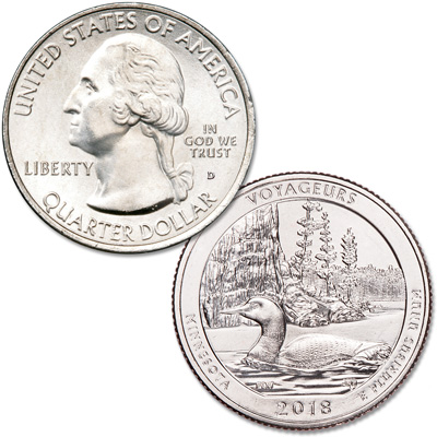 Image for 2018-D Voyageurs National Park Quarter from Littleton Coin Company