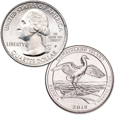 Image for 2018-P Cumberland Island National Seashore Quarter from Littleton Coin Company