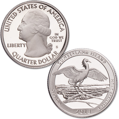Image for 2018-S Cumberland Island National Seashore Quarter from Littleton Coin Company