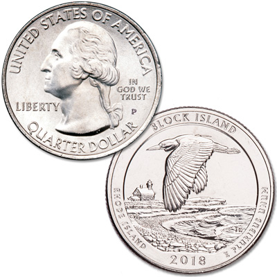 Image for 2018-P Block Island National Wildlife Refuge Quarter from Littleton Coin Company