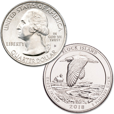Image for 2018-D Block Island National Wildlife Refuge Quarter from Littleton Coin Company