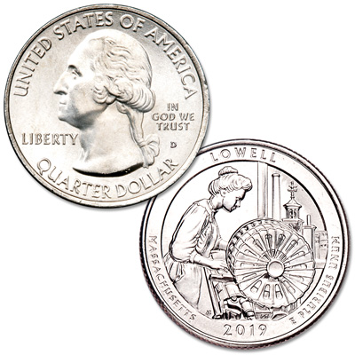 Image for 2019-D Lowell National Historical Park Quarter from Littleton Coin Company