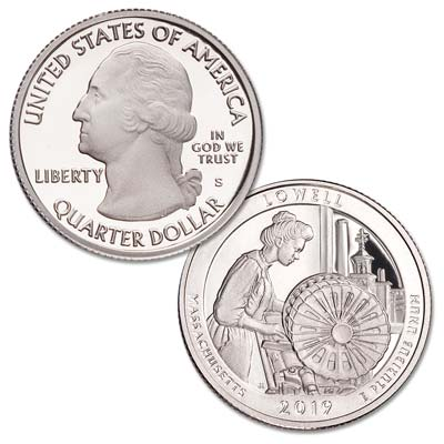 Image for 2019-S Lowell National Historical Park Quarter from Littleton Coin Company