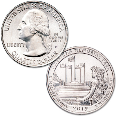 Image for 2019-P American Memorial Park Quarter from Littleton Coin Company