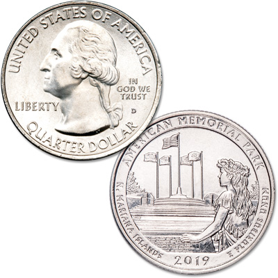 Image for 2019-D American Memorial Park Quarter from Littleton Coin Company