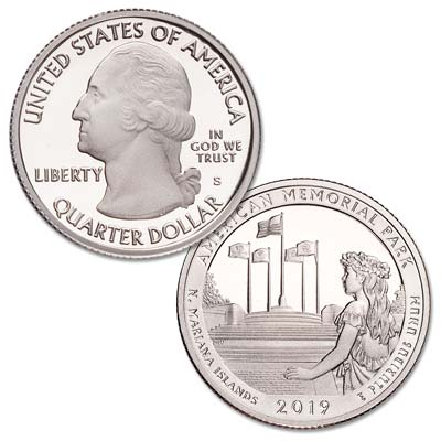 Image for 2019-S American Memorial Park Quarter from Littleton Coin Company