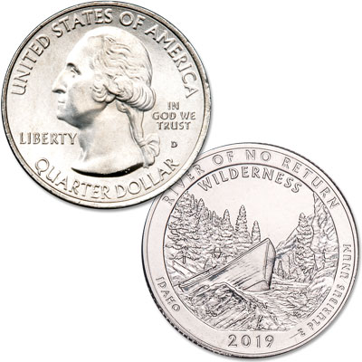 Image for 2019-D Frank Church River of No Return Wilderness Quarter from Littleton Coin Company