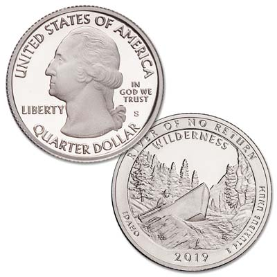 Image for 2019-S Frank Church River of No Return Wilderness Quarter from Littleton Coin Company