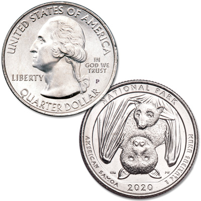 Image for 2020-P National Park of American Samoa Quarter from Littleton Coin Company