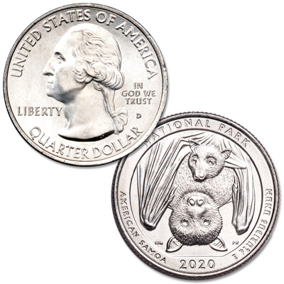 Image for 2020-D National Park of American Samoa Quarter from Littleton Coin Company