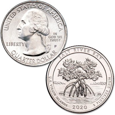 Image for 2020-P Salt River Bay National Historical Park & Ecological Preserve Quarter from Littleton Coin Company