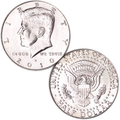 Image for 2010-D Kennedy Half Dollar, Uncirculated, MS60 from Littleton Coin Company