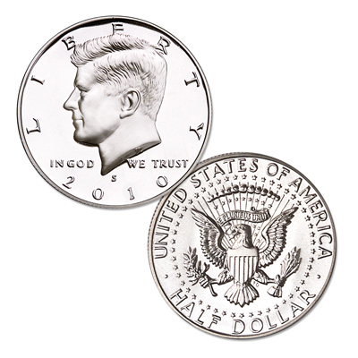 Image for 2010-S 90% Silver Kennedy Half Dollar, Choice Proof, PR63 from Littleton Coin Company