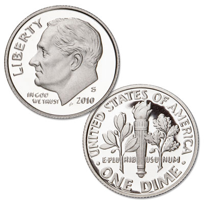 Image for 2010-S Roosevelt Dime, Choice Proof, PR63 from Littleton Coin Company