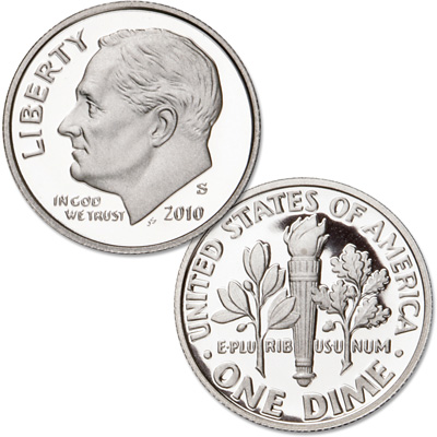 Image for 2010-S 90% Silver Roosevelt Dime, Choice Proof, PR63 from Littleton Coin Company