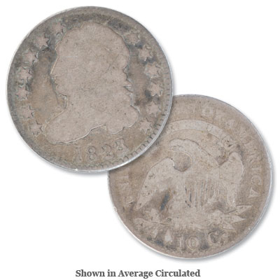 Image for 1823 3/2 Capped Bust Silver Dime, Small E's from Littleton Coin Company