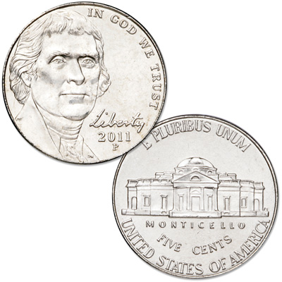 Image for 2011-P Jefferson Nickel from Littleton Coin Company