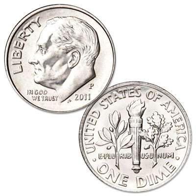 Image for 2011-P Roosevelt Dime from Littleton Coin Company