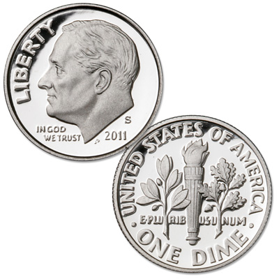 Image for 2011-S 90% Silver Roosevelt Dime from Littleton Coin Company